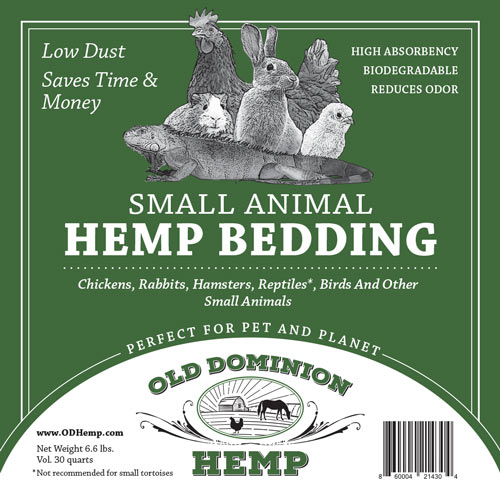 Small Animal Hemp Bedding from Old Dominion Hemp